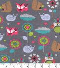 Snuggle Flannel Fabric 42\u0022-Tribal Owl And Friends