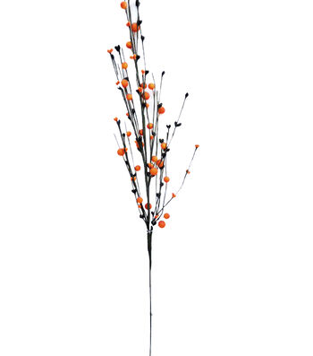 Maker's Halloween 28'' Glitter Berry Spray-Orange & Black