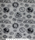 Fantastic Beasts Fleece Fabric-Logo
