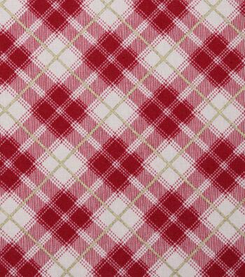 "Christmas Cotton Fabric 43""-Mini Lodge Plaid"