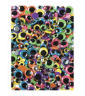 Peel & Stick Wiggle Eyes Assorted 7mm to 15mm 100/Pkg-Brights