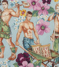 Novelty Cotton Fabric 45\u0022-Plowing The Field