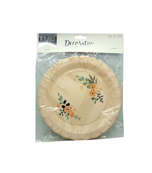 Scalloped Plates-Set of 8