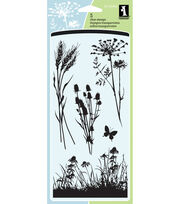 "Inkadinkado Clear Stamps 4""X8"" Sheet-Meadow, , hi-res"