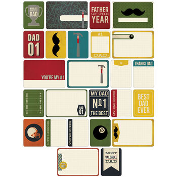 Project Life Themed Cards 40/Pkg-Dad