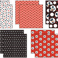 Disney Mickey Black/White/Red Paper Pack 12\u0022X12\u0022 10 Sheets-2 Each/5 Textured Papers