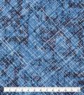 Keepsake Calico Cotton Fabric-Scratched Bias Blue