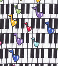 Snuggle Flannel Fabric 42\u0022-Rainbow Music Notes