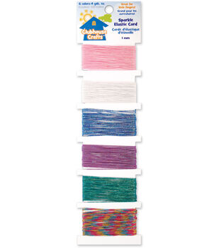 Sulyn Clubhouse Crafts-Sparkle Elastic Cord-6 Colors-4 Yds.