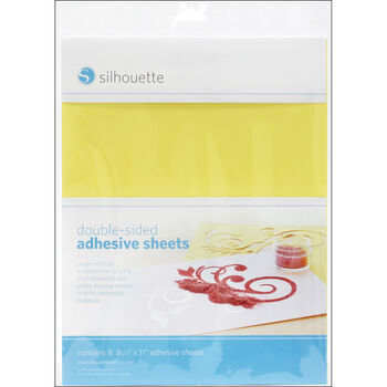 Silhouette America Inc Double-Sided Adhesive Sheets 8/Pkg