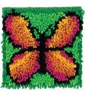 Wonderart Latch Hook Kit 8\u0022X8\u0022-Butterfly