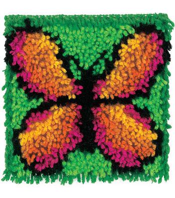 """Wonderart Latch Hook Kit 8""""X8""""-Butterfly"""