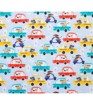 Super Snuggle Flannel Fabric-Driving Dogs