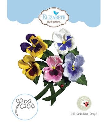 Elizabeth Craft Designs Susan's Garden Club Garden Notes Die-Pansy 2