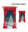 Stamping Bella Cling Stamps-Winter Window