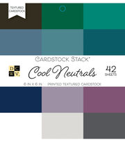 DCWV 42 Pack 6''x6'' Printed Textured Cardstock Stacks-Cool Neutrals, , hi-res