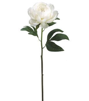 "Bloom Room 24"" Peony Stem-White"