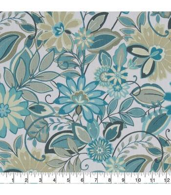 Home Essentials Lightweight Decor Fabric 45''-Teal Deuton Panorama