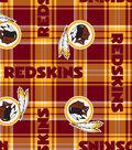 Washington Redskins Fleece Fabric -Plaid