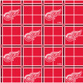 Detroit Red Wings Flannel Fabric -Plaid
