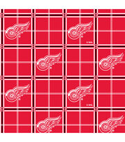 Detroit Red Wings Flannel Fabric -Plaid, , hi-res