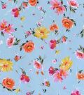 Sportswear Apparel Stretch Twill Fabric 57\u0027\u0027-Scattered Floral on Blue