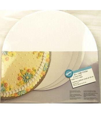 """Wilton 16"""" Cake Circle-6/Pk"""