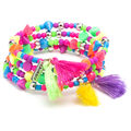 LaurDIY Mini DIY Tassel Bracelet Kit-Neon