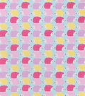 Snuggle Flannel Fabric-Pastel Stacked Hedgehog