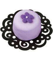 "Wilton Cake Doilies 4"" 30/Pkg-Swirl Black, , hi-res"