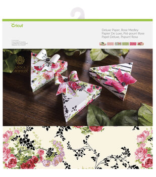 Cricut Anna Griffin 12 Pack 12''x12'' Deluxe Papers-Rose Medley
