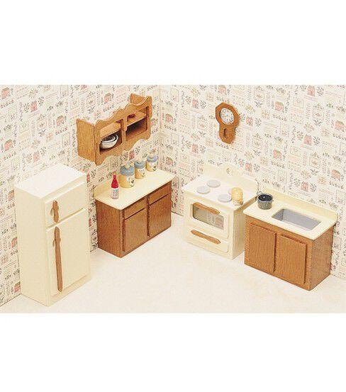 Greenleaf Dollhouse Furniture Kitchen Set