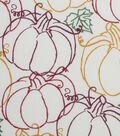 Harvest Cotton Fabric 44\u0022-Pumpkin Scribbles
