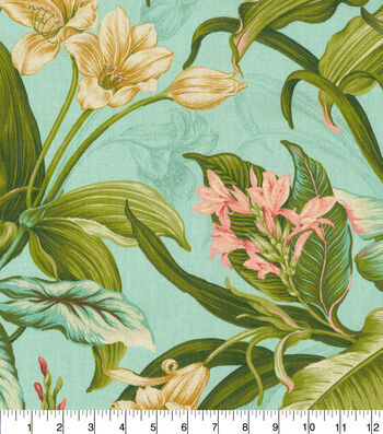 "Waverly Upholstery Fabric 54""-Wailea Coast in Bloom"