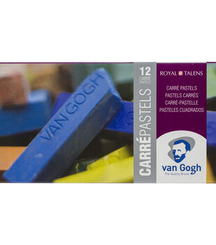 Van Gogh Carre Oil Pastels Set 12/Pkg-General Selection
