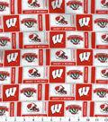 University of Wisconsin Badgers Cotton Fabric 43\u0027\u0027-Herringbone