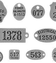 Tim Holtz Idea-ology 10 pk Foundry Adornments, , hi-res