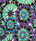 Doodles Juvenile Apparel Fabric -Tie Dye Fireworks Interlock