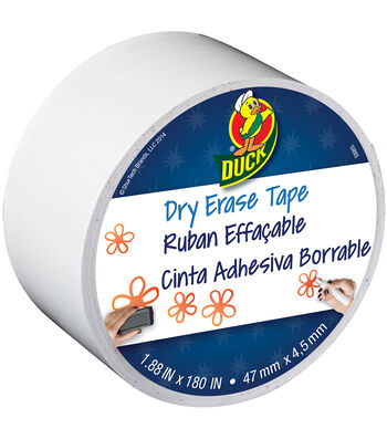 "ShurTech 1.88""x15yds Dry Erase Duck Tape-White"