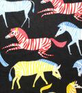 Anti-Pill Fleece Fabric 59\u0022-Rainbow Zebras