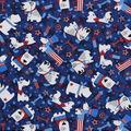 Snuggle Flannel Fabric -Patriotic Pups