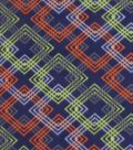 Blizzard Fleece Fabric 59\u0022-Orange & Green Geometrics