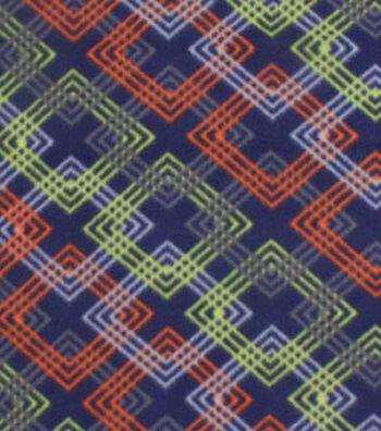 "Blizzard Fleece Fabric 59""-Orange & Green Geometrics"