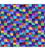Keepsake Calico Cotton Fabric -Multi Purples Mosaic, , hi-res