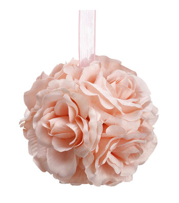 Bloom Room 4.5'' Rose Kissing Ball-Pink
