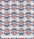 Snuggle Flannel Fabric-Play Ball On Gray
