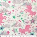 Anti-Pill Plush Fleece Fabric-Pastel Unicorns