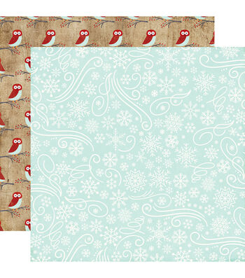 Echo Park Paper Company A Perfect Winter Cardstock-Snowflakes & Swirls