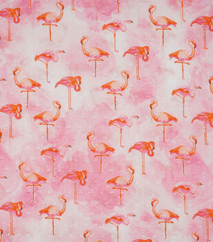 Speciality Cotton Fabric -Flamingo