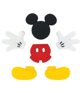 Disney Dress It Up Button Embellishments-Mickey Mouse